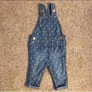 Denim overalls w/ micro design size 6-12m & 18-24m